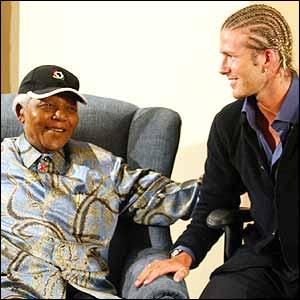 David Beckham meets Nelson Mandela