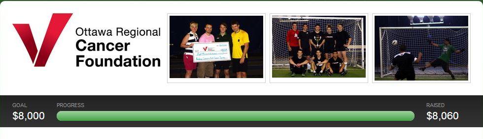 Money raised for the Ottawa Regional Cancer Foundation