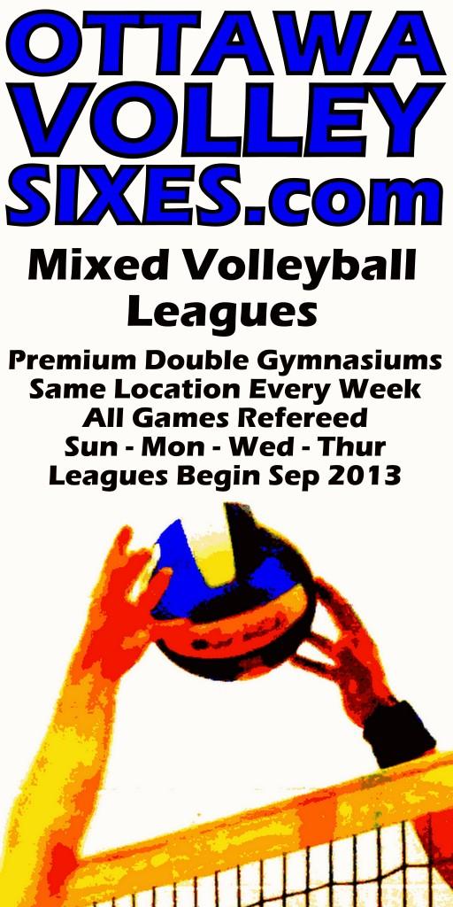 Mixed Volleyball at 4 locations Fall 2013
