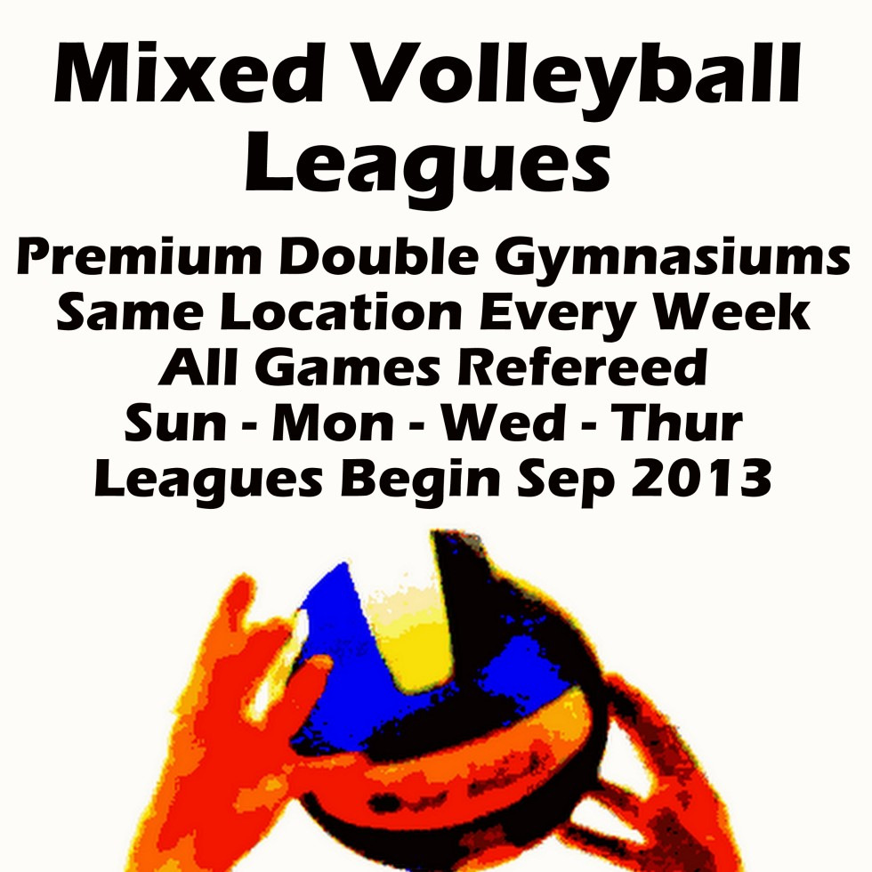 Mixed Volleyball at 4 locations Fall 2013
