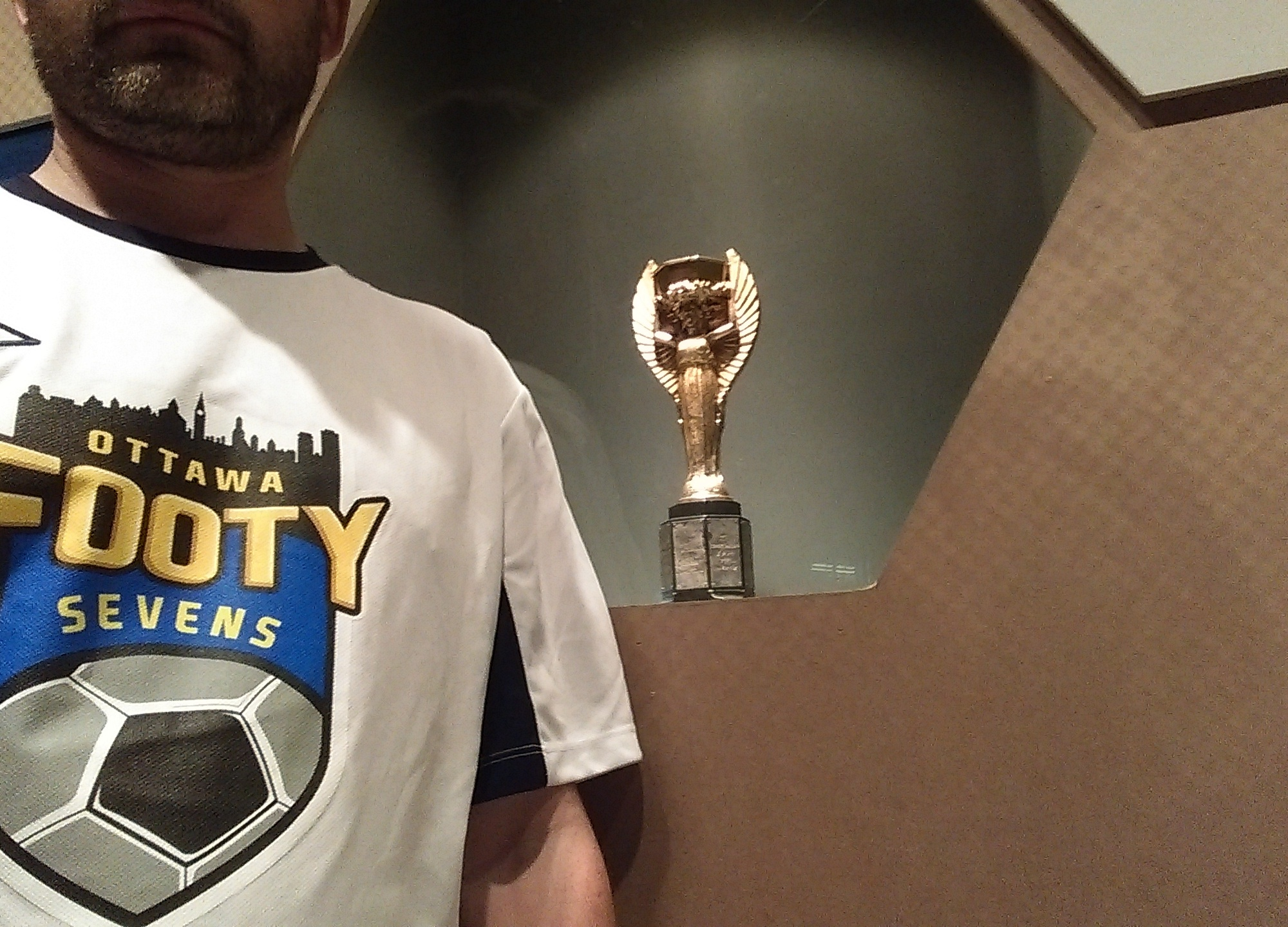 Footy Sevens with the Jules Rimet Trophy